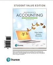 Horngren's Accounting: The Managerial Chapters, Student Value Edition Plus MyAcc