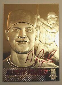ALBERT PUJOLS 2003 AUTOGRAPHED ST. LOUIS CARDINALS 23KT GOLD CARD! 600 HOMERS!