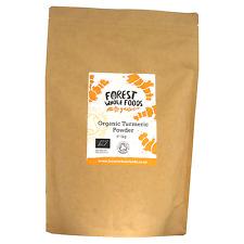 Forest Whole Foods Organic Turmeric (Haldi) Powder 1kg (Free UK Postage)