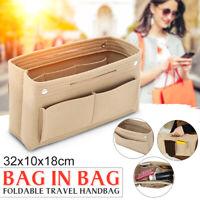 32x10x18cm Women's Handbag Organizer Bag Purse Insert Bag Felt Multi Pocket Tote