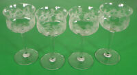 Elegant Crystal THISTLE Pattern Liqueur Cordial Goblet (s) LOT OF 4 Optic Glass