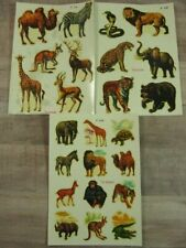 Vintage Waterslide Decals Transfers Jungle Animals Lion Tiger Art Deco-Cals Nos
