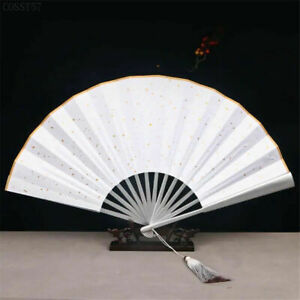 Word of Honor Same Style Folding Cosplay Fan Shan He Ling Wen Kexing Props Gifts