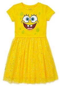 NWT Girls Spongebob Squarepants Tutu Dress 4 6 8 10 12 14 Halloween Costume