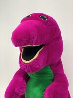"Dakin Plush Barney Purple Dinosaur Stuffed Animal Large 20"" Tall 1992"