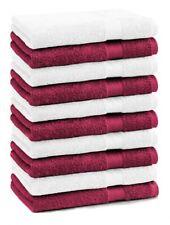 Betz 10 Stück Seiftücher Seiflappen PREMIUM 30x30cm dunkelrot & weiß