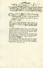 Documento Autografo Paolo Manzoni Canonico Duomo Milano Curia Metropolitana 1768
