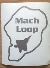 Mach Loop car sticker with a USAF F22 Raptor Fast Jet Silhouette within
