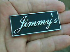UK ~ JIMMY'S CAR BADGE Chrome Metal Emblem To Personalise Your Car James *NEW!*