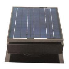 Gray Solar Powered Attic Vent Exhaust Fan Roof Ventilator Mount 1420 CFM Panel