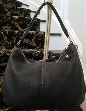 J Crew black pebbled leather hobo satchel Ret $325