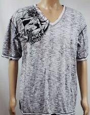 DC Comics Marc Ecko Men's size XXL Femme Fatale V-neck shirt white gray black