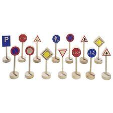 Verkehrszeichen aus Holz 15 Teile Stopschild Verkehrsschild Neu