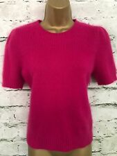 Jonathan Saunders Hot Pink Angora Mix Short Sleeved Jumper UK 14