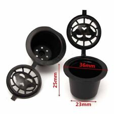 3Pcs Refillable Coffee Capsule Cup Reusable Filters for Nespresso Machine