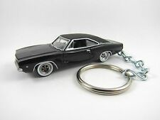 1968 DODGE CHARGER R/T Coupe Black Key FOB Keyring Keychain