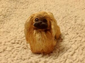 Vintage Stone Critters Pekingese SC-083 Collectable Resin Dog Figurine USA