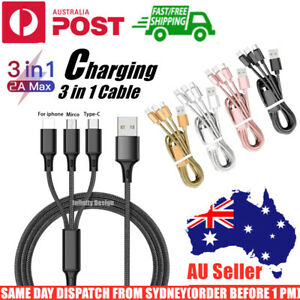 Universal 3 in 1 Charging Cable USB Multi Function Phone Charger Cord Type-C IOS