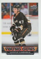 (66490) 2013-14 UPPER DECK YOUNG GUNS ROOKIE CARD HAMPUS LINDHOLM #499