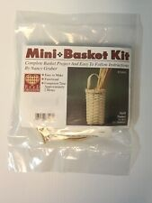 Mini Quill Basket Weaving Kit, Weaving, Supplies, Reed, Pattern