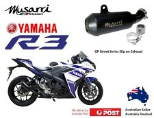 Yamaha YZFR3  R3  2015-2016-2017-2018  Musarri Slip-on GP Exhaust Muffler BLACK