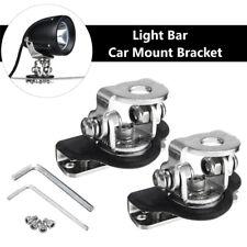 2× LED Work Light Bar Car Mount Clamp Bracket Holder For Offroad Stainless Steel