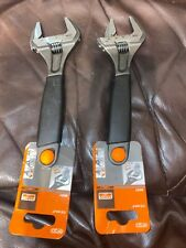 """Bahco 9031 Adjustable Spanner Wrench 200mm 8"""" Extra Wide Jaw x2"""