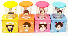Collectible Cute Monchhichi Drinking Water Glass Glassware with Plastic Lid