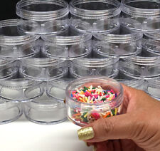 45 Cosmetic Jars Empty Plastic Beauty Containers 50 Gram 50 ml Clear Caps #3057