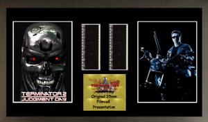 Terminator 2 GENUINE 2 strip film cell style display 16 x 8 FRAMED