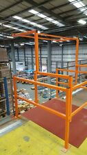 Mezzanine Floor Pallet Gate strong construction powder coated various widths
