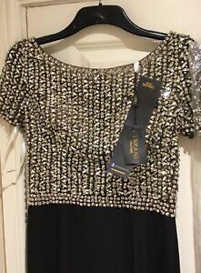 BNWT Terani Couture Embellished Beaded Dress Size US 10 UK 10 - 12