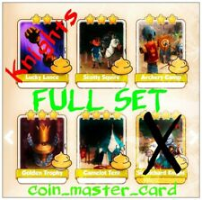 Coin Master Knights Full Set ( Lance, Camelot Tent, Golden Trophy... ) Card