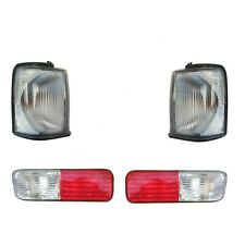 LAND ROVER DISCOVERY 2 1999-2002 CLEAR FRONT INDICATOR & REAR BUMPER LIGHTS SET