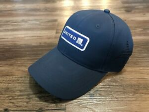 United Airlines Navy Logo Hat Brand New Adjustable Cap With Airplane Cutout