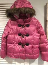 NWT OLD NAVY TOGGLE COAT JACKET SMALL 6-7 FAUX FUR AROUND HOOD WARM LINED HOOD
