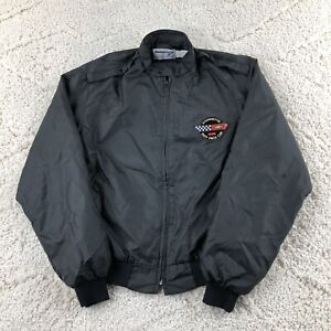 Vintage 80s Corvette 1986 Indy Pace Car Jacket Swingster Large Made USA Racing