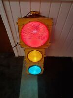 AUTHENTIC Traffic Signal Light Aluminum Wired Crouse Hinds brand LED Lenses