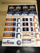 2016 HOUSTON ASTROS PLAYOFF TICKET STRIP SHEET STUB WORLD SERIES CORREA ALTUVE