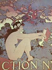 Art Nouveau Poster Print Color By Maxfield Parrish Scribner's Fiction