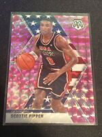 2019-2020 Panini Mosaic~Scottie Pippen~Pink Camo Prizm #256- USA Basketball