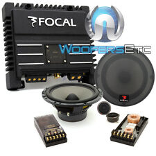 "pkg FOCAL 165 V20 6.5"" COMPONENT TWEETERS CROSSOVERS SPEAKERS + SOLID2 AMPLIFIER"