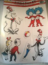 "Lot Of 4 Large Dr Seuss Characters 2-Sided Some Up To 9"" Tall Eu840224"