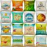 18'' Summer Beach Style Pillow Case  Cotton Linen Cushion Cover Home Decor