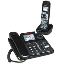 Amplified Clarity Corded Cordless Combo With Answering Machine Phone Home Office
