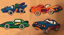 RACE CAR LOT Iron-Ons Fabric Appliques Heat Bond Applied 4 Cars: #5, 7, 8 +