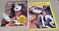 Vintage KISS Aucoin Era Ace Frehley Magazine Clippings Holding Polaroid SX-70
