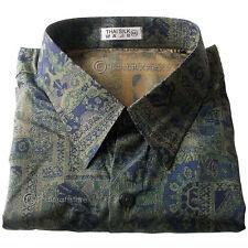 Unbranded Men's Regular Collar Loose Fit Casual Shirts & Tops