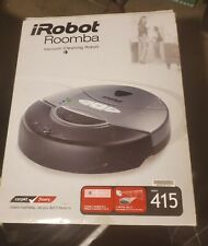 iRobot Roomba 415 Robotic Vacuum Cleaner +NEW BATTERY & BRUSHES/Walls -WARRANTY