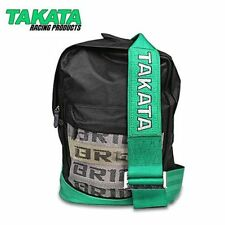 NEW JDM BAG BACKPACK BRIDE WITH GREEN TAKATA HARNESS DRIFT RACE TRACK